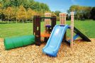 Kids Mini Climb and Slide Forest Fort Play Set